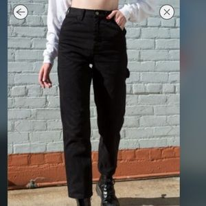 Black painter pants